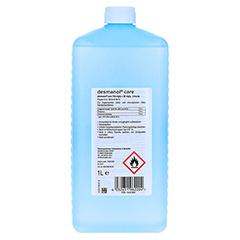 DESMANOL care alkoholische Händedesinfektion EF 1000 Milliliter - Rückseite