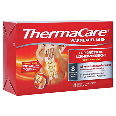 ThermaCare Wärmeauflagen für größere Schmerzbereiche 4 Stück