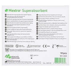 MEXTRA Superabsorbent Verband 12,5x12,5 cm 10 Stück - Rückseite