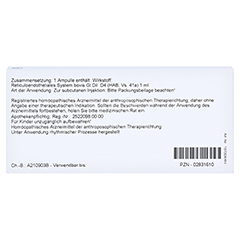 RETICULOENDOTHELIALES System GL D 4 Ampullen 10x1 Milliliter N1 - Rückseite