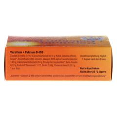 CAROTININ+Calcium D 400 Kapseln 30 Stück - Oberseite