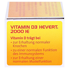 VITAMIN D3 Hevert 2.000 I.E. Tabletten 60 Stück - Linke Seite