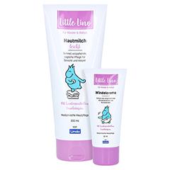 LITTLE Lino Hautmilch leicht + gratis LITTLE Lino Windelcreme 50 ml 200 Milliliter