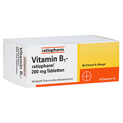 VITAMIN B1 ratiopharm 200 mg Tabletten 100 Stück N3