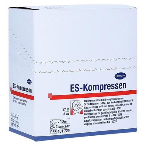 ES-KOMPRESSEN steril 10x10 cm 8fach 25x2 Stück