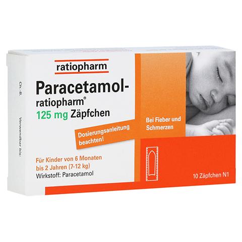Paracetamol-ratiopharm 125mg 10 Stück N1