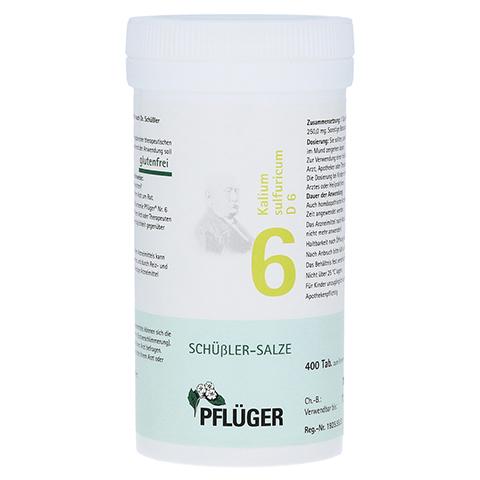 BIOCHEMIE Pflüger 6 Kalium sulfuricum D 6 Tabl. 400 Stück N3