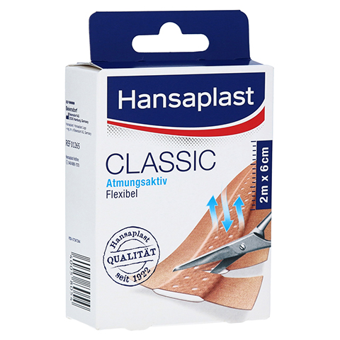 Hansaplast Classic Pflaster 6 cmx2 m 1 Stück