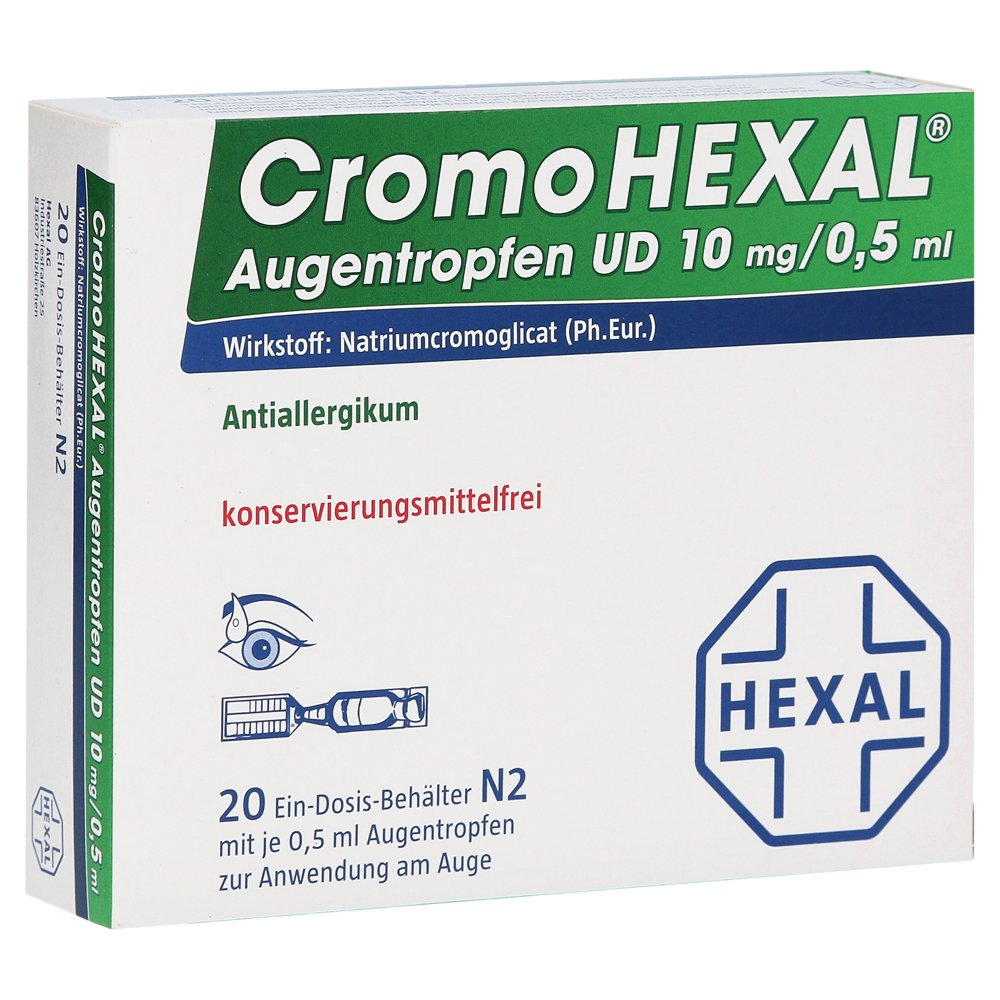 Hexal AG CromoHEXAL Augentropfen UD Augentropfen 20 Stück