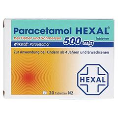Paracetamol 500mg HEXAL bei Fieber und Schmerzen 20 Stück N2 - Vorderseite