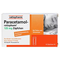 Paracetamol-ratiopharm 125mg 10 Stück N1 - Vorderseite