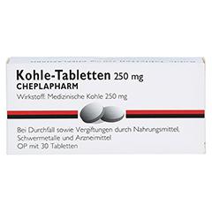 Kohle-Tabletten 250mg 30 Stück - Vorderseite