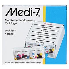 MEDI 7 Medikamentendos.f.7 Tage weiß 1 Stück - Vorderseite