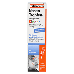 NasenTropfen-ratiopharm Kinder 10 Milliliter N1 - Vorderseite