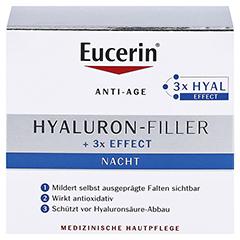 EUCERIN Anti Age Hyaluron Filler Nacht Tiegel+ gratis Elasticity+Filler Gesichts-Öl 5 ml 50 Milliliter - Vorderseite