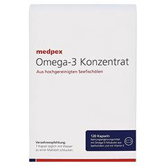 medpex Omega-3 Konzentrat 120 Stück - Vorderseite