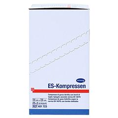 ES-KOMPRESSEN steril 7,5x7,5 cm 8fach 25x2 Stück - Rechte Seite