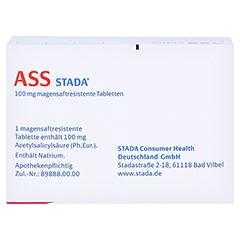 ASS STADA 100 mg magensaftresistente Tabletten 100 Stück N3 - Rückseite