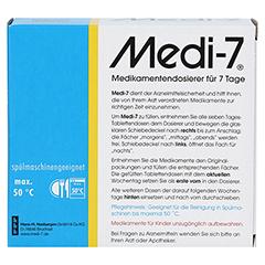 MEDI 7 Medikamentendos.f.7 Tage weiß 1 Stück - Rückseite
