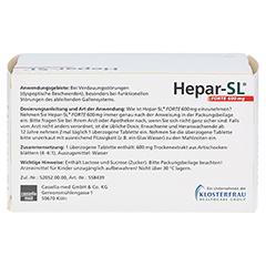 Hepar-SL Forte 600mg 100 Stück - Rückseite