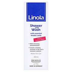 LINOLA Dusch und Wasch 300 Milliliter - Rückseite