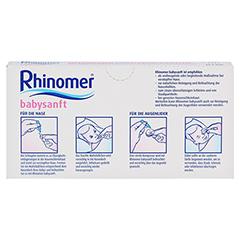 Rhinomer Babysanft Meerwasser 5ml Einzeldosispipetten 20x5 Milliliter - Rückseite