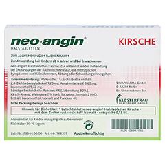 Neo-Angin Halstabletten Kirsche 24 Stück N1 - Rückseite
