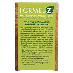 Formel Z Tabletten für Hunde 125 Gramm - Rückseite