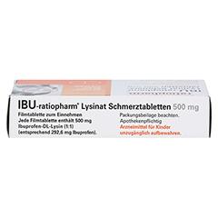 IBU-ratiopharm Lysinat Schmerztabletten 500mg 10 Stück N1 - Oberseite