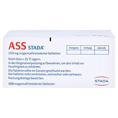 ASS STADA 100 mg magensaftresistente Tabletten 100 Stück N3 - Oberseite