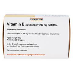 VITAMIN B1 ratiopharm 200 mg Tabletten 100 Stück N3 - Oberseite