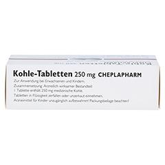 Kohle-Tabletten 250mg 30 Stück - Oberseite