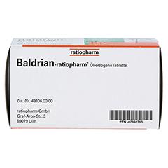 BALDRIAN-RATIOPHARM überzogene Tabletten 60 Stück - Unterseite