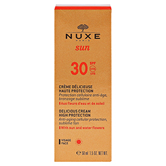 NUXE Sun Creme Visage LSF 30 + gratis Nuxe After-Sun Hair & Body Shampoo 50 Milliliter - Vorderseite