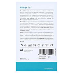 CERASCREEN Allergie-Test-Kit Hausstaubmilbe 1 Stück - Rückseite