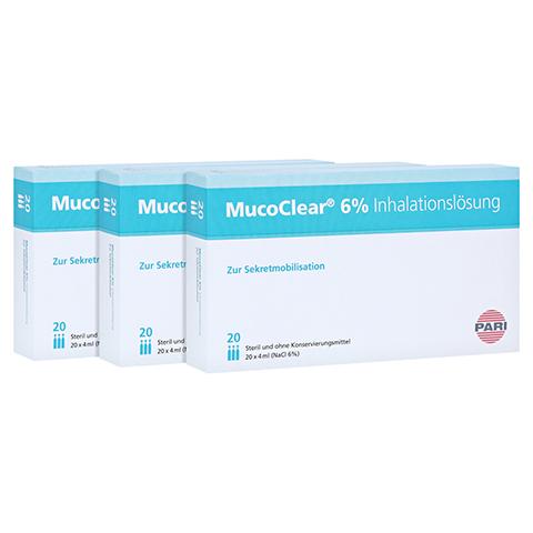MUCOCLEAR 6% NaCl Inhalationslösung 60x4 Milliliter