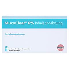 MUCOCLEAR 6% NaCl Inhalationslösung 20x4 Milliliter - Vorderseite