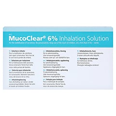 MUCOCLEAR 6% NaCl Inhalationslösung 60x4 Milliliter - Rückseite