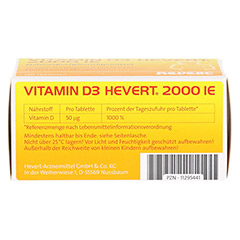 VITAMIN D3 HEVERT 2.000 I.E. Tabletten 120 Stück - Unterseite