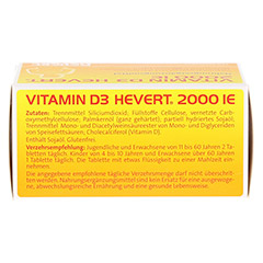 VITAMIN D3 Hevert 2.000 I.E. Tabletten 120 Stück - Oberseite