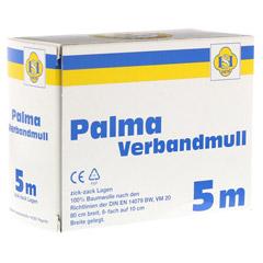 PALMA Verbandmull 80 cm 5 m zickzack Lagen 1 Stück