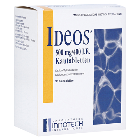IDEOS 500 mg/400 I.E. Kautabletten 90 Stück