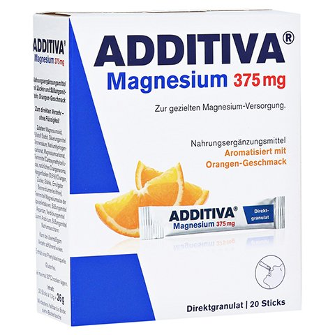 ADDITIVA Magnesium 375 mg Sticks Orange 20 Stück