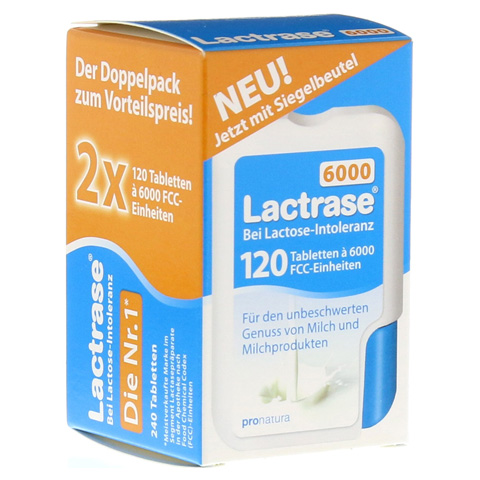Lactrase 6.000 FCC Tabletten im Klickspender Doppelpack 2x120 Stück