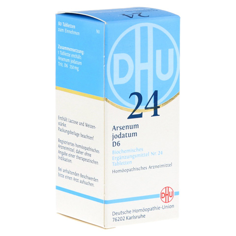 BIOCHEMIE DHU 24 Arsenum jodatum D 6 Tabletten 80 Stück N1