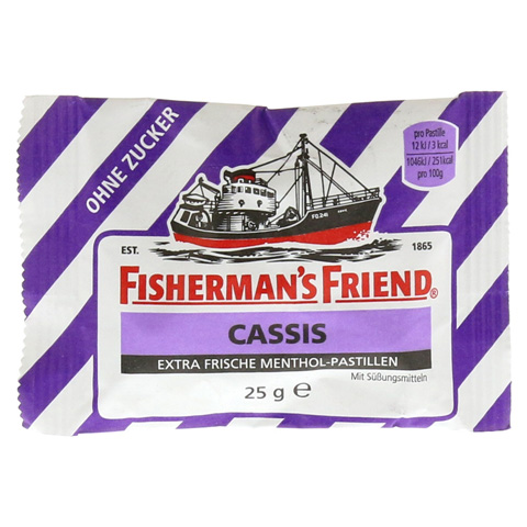 FISHERMANS FRIEND Cassis ohne Zucker Pastillen 25 Gramm