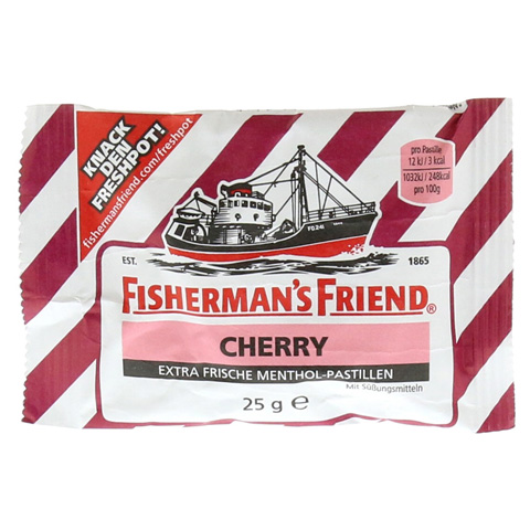 FISHERMANS FRIEND Cherry ohne Zucker Pastillen 25 Gramm