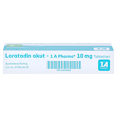 Loratadin akut-1A Pharma 7 Stück - Unterseite