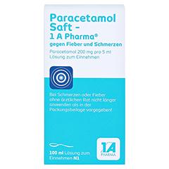 Paracetamol Saft-1A Pharma gegen Fieber und Schmerzen 100 Milliliter N1 - Rückseite