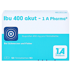 Ibu 400 akut-1A Pharma 50 Stück N3 - Vorderseite